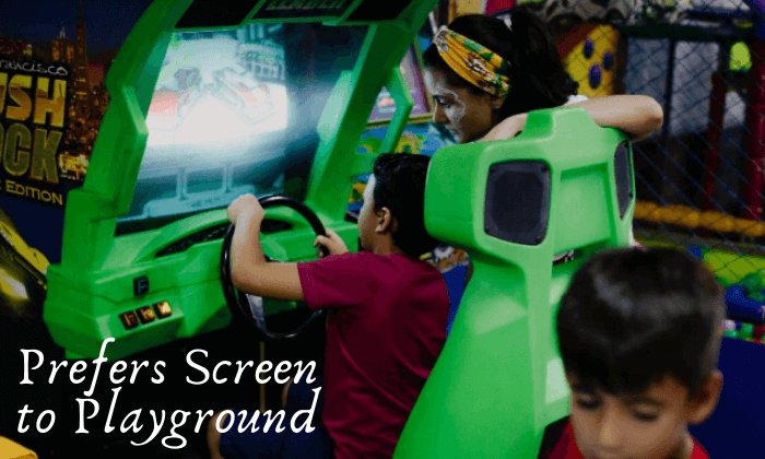 Preferring screens to Playgrounds